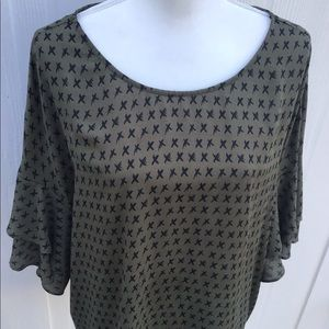 A.N.A Olive Green Blouse